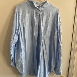 Old Navy Casual Button Down Light Wash Top